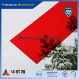 Transparentes rotes Acrylblatt