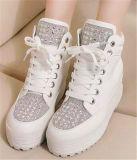 Neue Ansammlung erhöhte innere Ferse-Leder-Frauen-Schuhe (HS8-2)