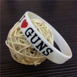 Preço barato bracelete personalizado do silicone de Debossed