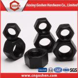 Высокопрочная черная тяжелая Hex гайка Gr8.8