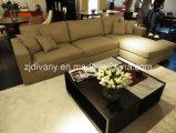 El sofá de cuero moderno del estilo europeo fijó (D-72F+H)