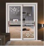 居間のための2016の熱い販売美しいデザインアルミニウム緩和されたガラスの引き戸