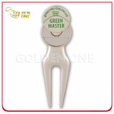 Nickel opaco Golf Repair Divot Tool con Magnetic Ball Marker