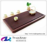 Atmosfera elegante di pietra vermiglia naturale del cassetto di tè del legno di sandalo rosso