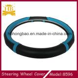 Acessórios interiores do carro, tampa de roda de couro da direção do carro da fibra