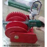 Torno eléctrico de la grúa de la mano de W-D