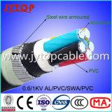 1kv de Gepantserde Kabel van de Draad van het staal, Kabel 4X70mm van SWA