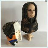 mascherina di pattino su ordinazione arancione all'ingrosso di Hoody del panno morbido della mascherina del fronte del collo del Beanie della protezione calda polare militare solida del cappello