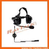 Detrás de la cabeza 2 de la Comunicación bidireccional auriculares con rojo del interruptor PTT