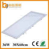 30X60cm Suqare Downlight 천장 점화 LED 빛 36W는 주조 알루미늄 위원회 LED를 정지한다