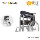 Fauteuil roulant manuel en acier manuel standard économique populaire 809 de chaise de roue