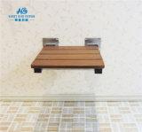 Banc de siège de douche pliable en teck Fini Chrome SPA Bath