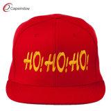 Roter Schutzkappe Hysteresenhut gestickte flache Bill-Hip Hop mit Wollen (01076)