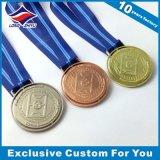 Sport de médailles de logo d'impression de médaille de ping-pong de placage de couleur d'or