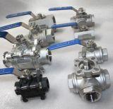 Valvola a sfera di pressione bassa Pn16 Wcb 2PC del filetto BSPT con Ce e ISO9001