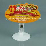 Kleines Plastic Sign Holder mit Round Base