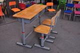 나무로 되는 고품질 학교 학생 책상 및 의자 (SF-04D)