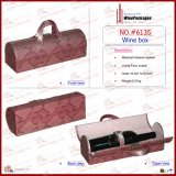 New Design Fashion Direct PU Leather Wine Carrier (6135R11)