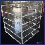 Organizzatore acrilico di trucco di vendita calda con i cassetti