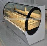 타원형 모양 상업적인 아이스크림 진열장