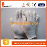 13 gants enduits blancs Dpu101 d'unité centrale de doublure en nylon blanche de mesure