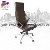 Cadeira de couro de lustro da cadeira do quarto de livro da cadeira de giro do plutônio