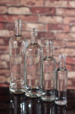 Botella por encargo del ron con la decoración