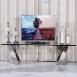 Moderner Entwurf Fernsehapparat-Standplatz mit freien ausgeglichenes Glas-Oberseite-Ausgangsmöbeln