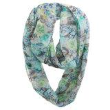 fashion Flower Printed Polyester 숙녀 시퐁 무한대 여름 스카프 (YKY1106)