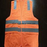 Maglia arancione 100%Polyester di influenza della maglia di sicurezza un Breakaway dei 5 punti
