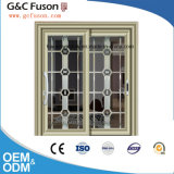 Fait dans constructeur en aluminium de porte coulissante en verre Tempered de la Chine le double