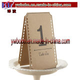 Tabelle Weinlese-Angelegenheitbrown-Kraftpapier nummeriert 1-12 Wedding Dekoration (W1076)