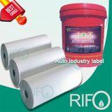 Papier synthétique d'étiquette sulfurisée pour l'industrie automobile RoHS MSDS