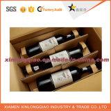 Caixa de transporte feita sob encomenda do papel do cartão ondulado para o vinho