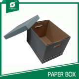 Corrugado color del papel caja de almacenaje plegable modificado para requisitos particulares