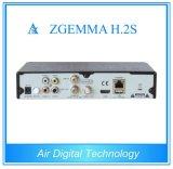 El receptor basado en los satélites Zgemma H. 2s DVB-S2+DVB-S2 del sintonizador gemelo se dobla base