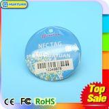 IDENTIFICATION RF sèche Keyfob d'époxy de trousseau de clés de 13.56MHz NFC NTAG203 NTAG213