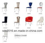 의자 홈 가구를 식사하는 현대 디자인 PU 스테인리스 연회
