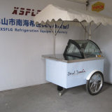 6-8 PCS Display Flavor Ice Cream Cart / Gelato Display