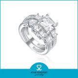 De imitatie Echte Zilveren Ring van de Diamant (sh-R0179)