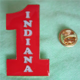 インディアナの黄銅によってめっきされる柔らかいエナメルの折りえりPin