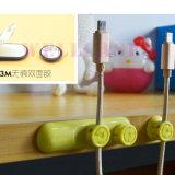 机の粘着性がある巻取り機の低下クリップ小型磁気ユニバーサルコードかワイヤーまたは覆いまたはケーブルのオルガナイザー