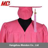 Chapeau de graduation de lycée avec le rose mat adulte de gland