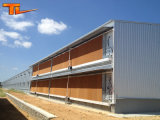 Casa de galinha pré-fabricada da construção da construção de aço do projeto