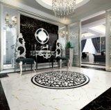 Azulejo de piso de cerámica Polished vitrificado mármol blanco y negro de la porcelana