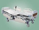 Lit d'hôpital électrique de Cinq-Fonction avec la tête de lit d'ABS