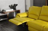 Couleur L sofa de jaune de beurre de cuir de forme