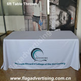 6FT ou 8FT Customized Polyester Table Cover, Table Throw, Table Cloth