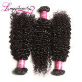 Cabelo indiano Curly profundo natural do Virgin não processado