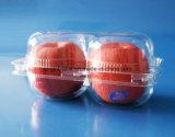 Bandeja de empaque de frutas de plástico para Apple 2 piezas